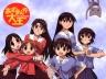 """From the left: Ayumu """"Osaka"""" Kasuga, Chiyo Mihama, Koyomi """"Yomi"""" Mizuhara, Tomo """"Wildcat"""" Takino, Sakaki, and Kagura"""