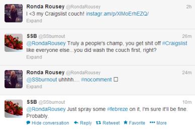 SSB vs. Ronda Rousey's Craigslist Couch