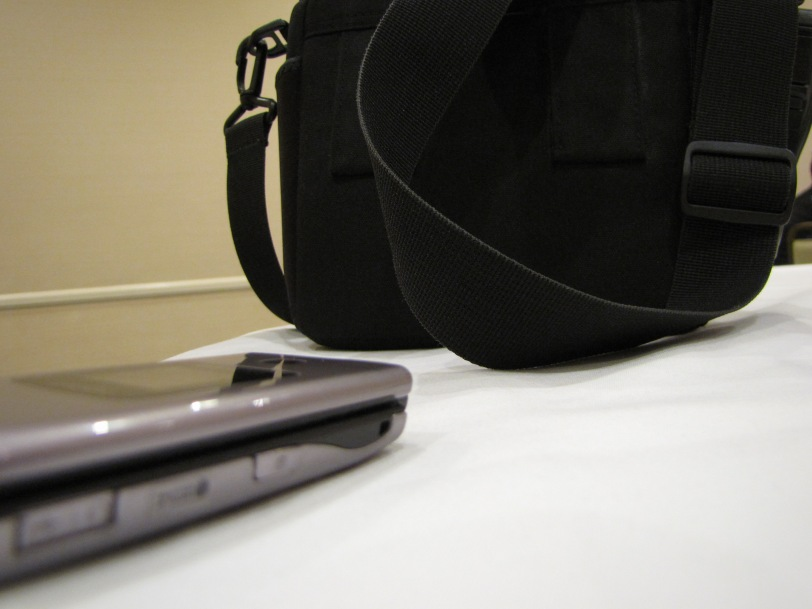 My camera bag and cell phone...