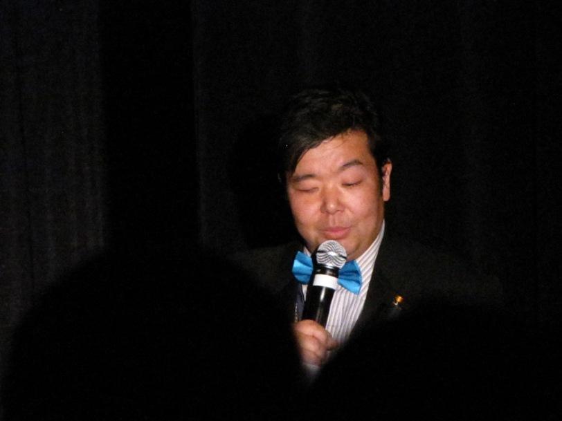 Guest Tadao Tomomatsu hosting the Masquerade...
