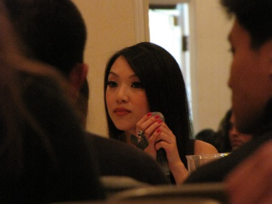 Vampy answering questions at her panel...