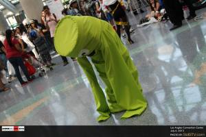 This guy was hilariously dancing at the front doors of the Los Angeles Convention Center.